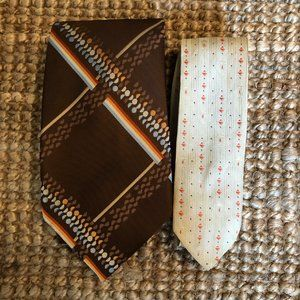 Tie Collection   Lot of 2   Vintage 70's